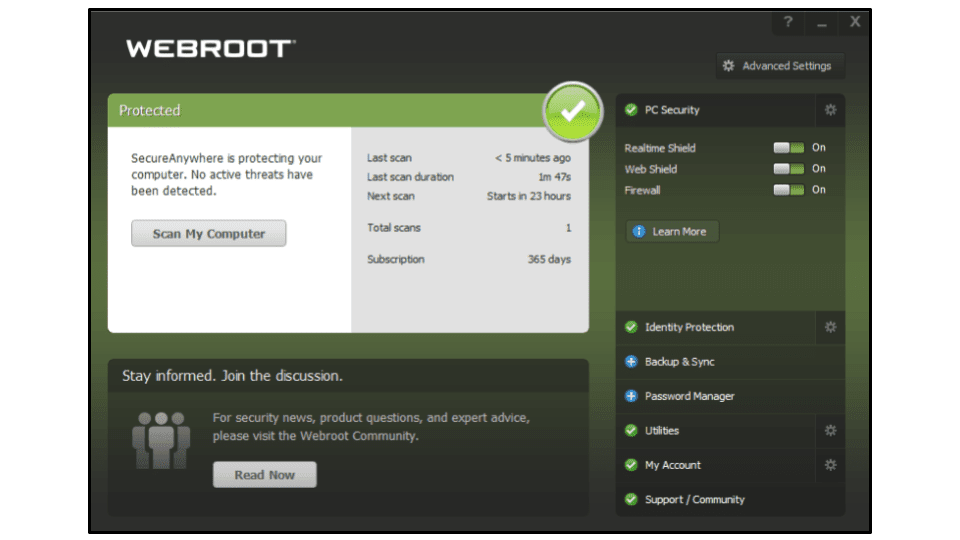 Webrootの完全レビュー
